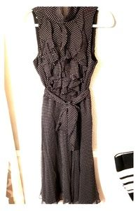 Ralph Lauren blk/wht polka dot fit and flare sz 12